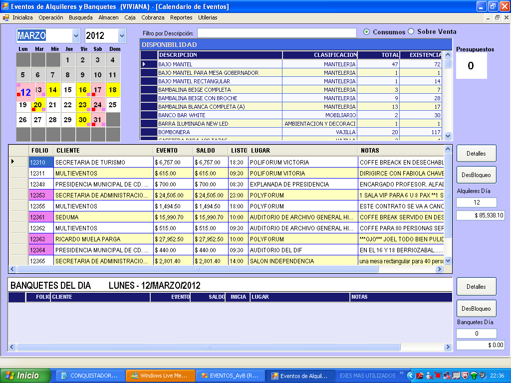 Software para Alquiler de Mobiliario - Sistema para Alquiler de