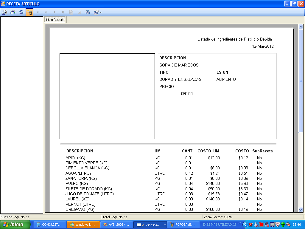 Software para restaurante sistema para restaurante for Formatos y controles para restaurantes gratis